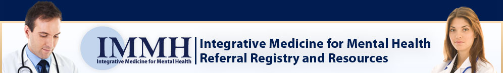Integrative Medicine for Mental Health medicine and nutritional sciences referral and registry